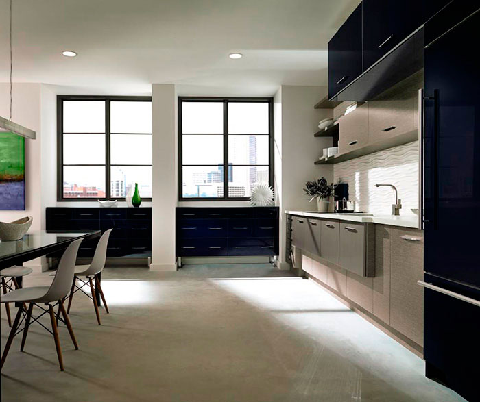 ... Acrylic Kitchen Cabinets With Melamine Accents By Kitchen Craft  Cabinetry ...