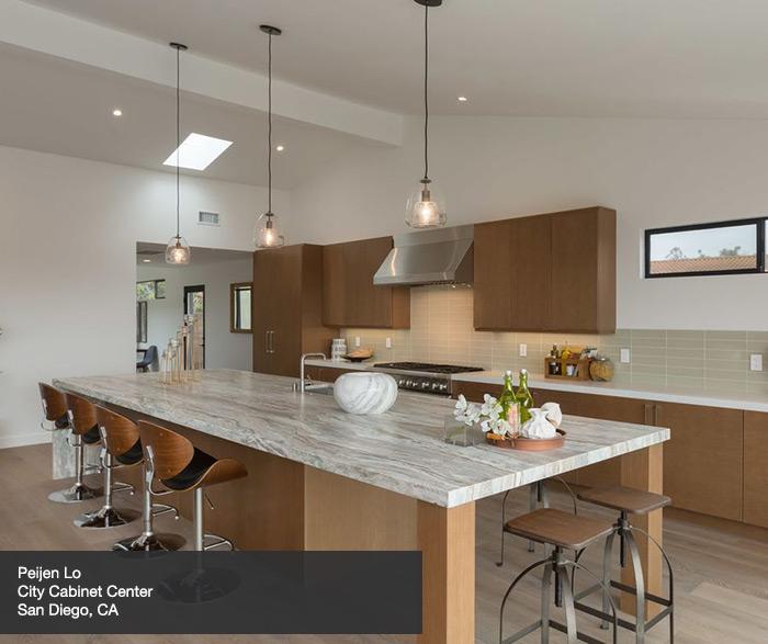 Contemporary White Oak Kitchen Cabinets In Tuscan Finish