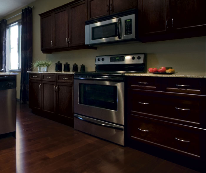 ... Maple Cappuccino Finish; Shaker Kitchen Cabinets In Espresso Finish By  Kitchen Craft Cabinetry ...