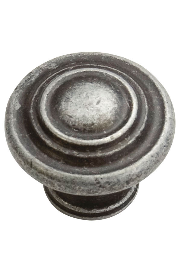Antique Cabinet Knob In Natural Iron