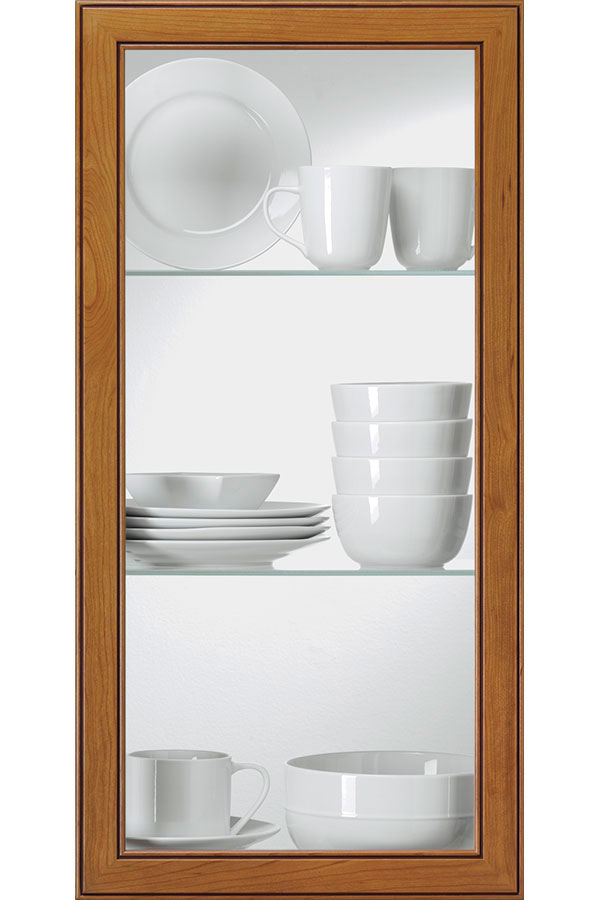 clear glass cabinet insert