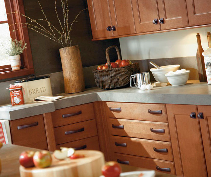 Rustic Kitchen Cabinets in Rift Oak - Kitchen Craft Cabinetry