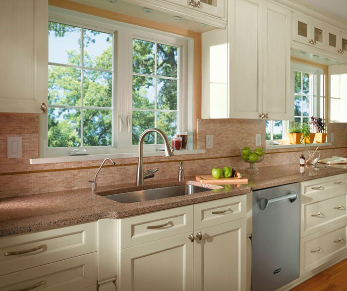 off white kitchen cabinets white cabinets in casual kitchen kitchen craft cabinetry 3610