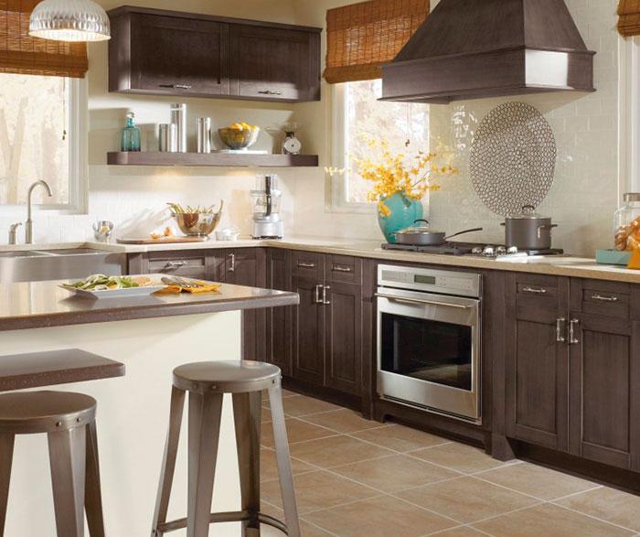 Weathered Slate - Gray Cabinet Finish on Maple - Kitchen Craft
