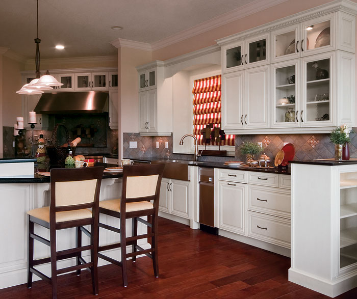 kitchen cabinets in painted maple by kitchen craft cabinetry