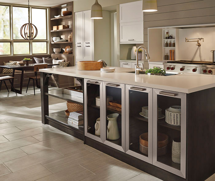 Casual open kitchen design by Kitchen Craft Cabinetry