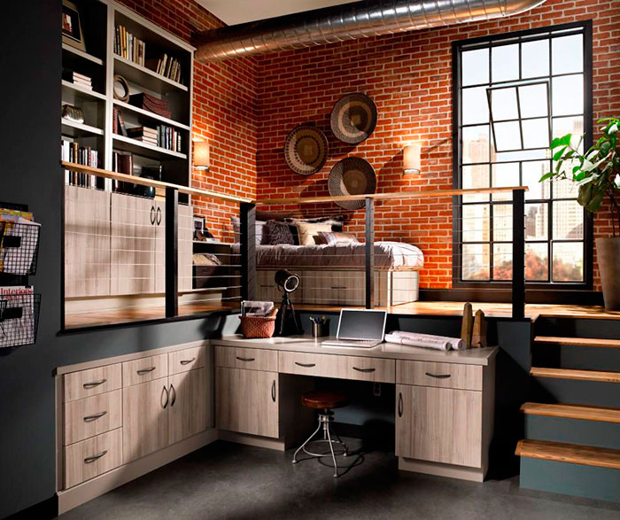 Contemporary cabinets in loft apartment by Kitchen Craft Cabinetry