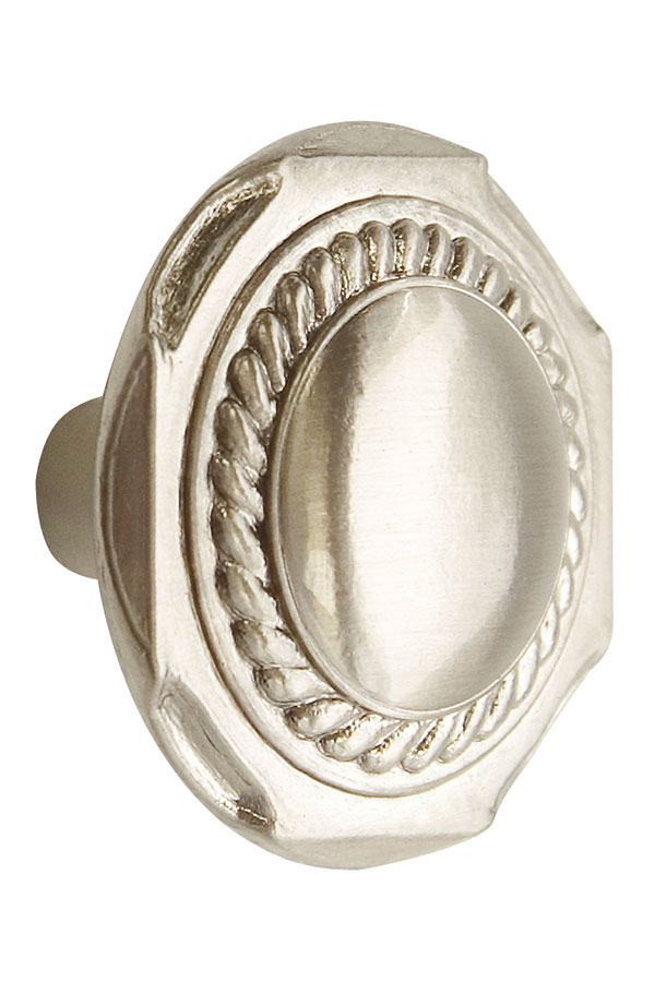 Traditional Cabinet Knob in Brushed Nickel